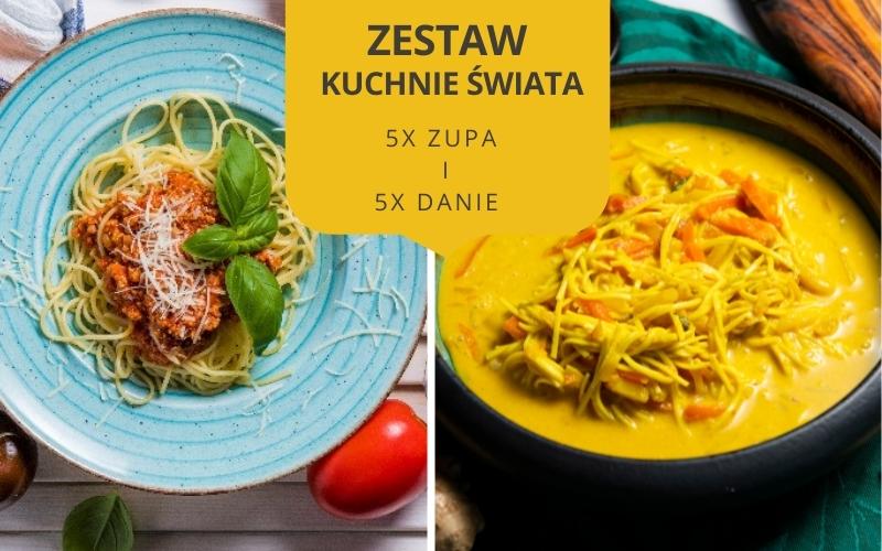 Zestaw obiadowy KUCHNIE ŚWIATA (5 zup i 5 dań)