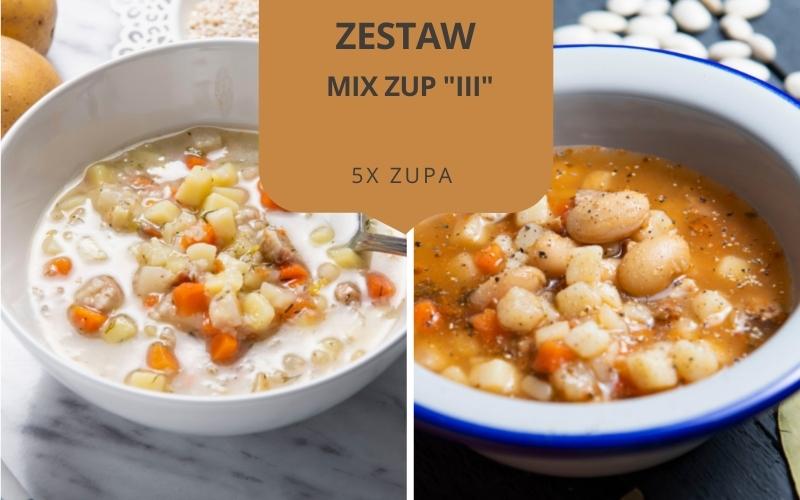 Zestaw obiadowy MIX ZUP III (5 zup)
