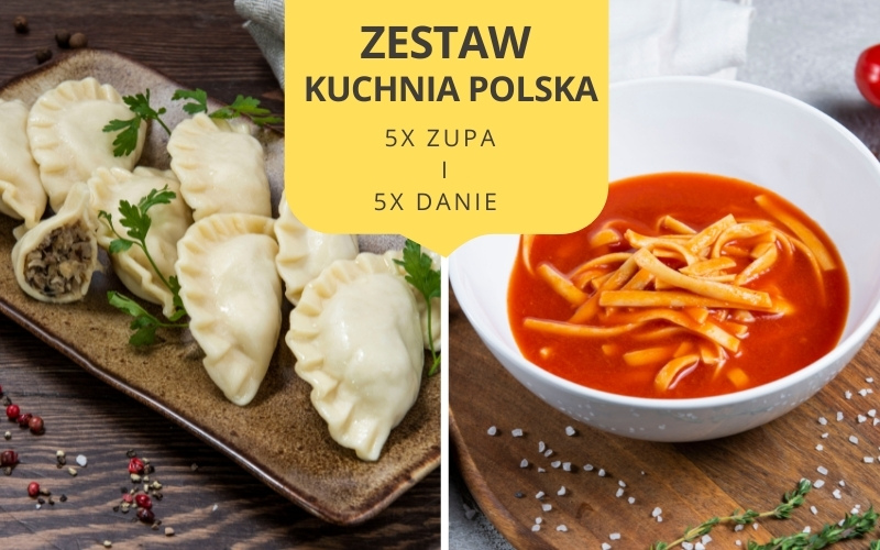 Zestaw obiadowy KUCHNIA POLSKA (5 zup i 5 dań)