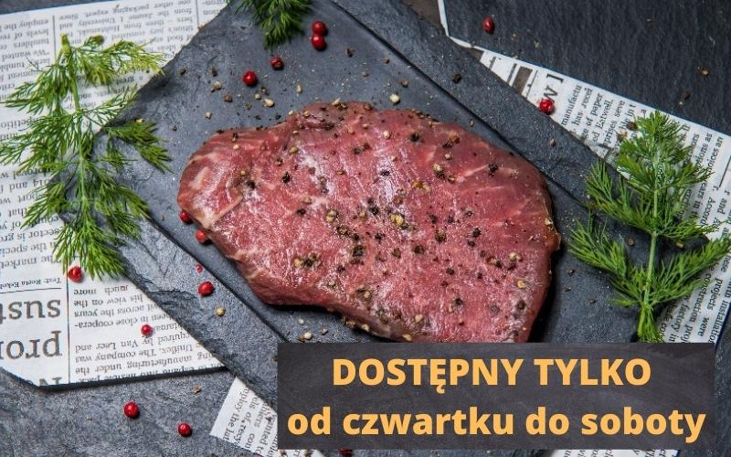 Stek wołowy surowy (1 szt - 100 g)