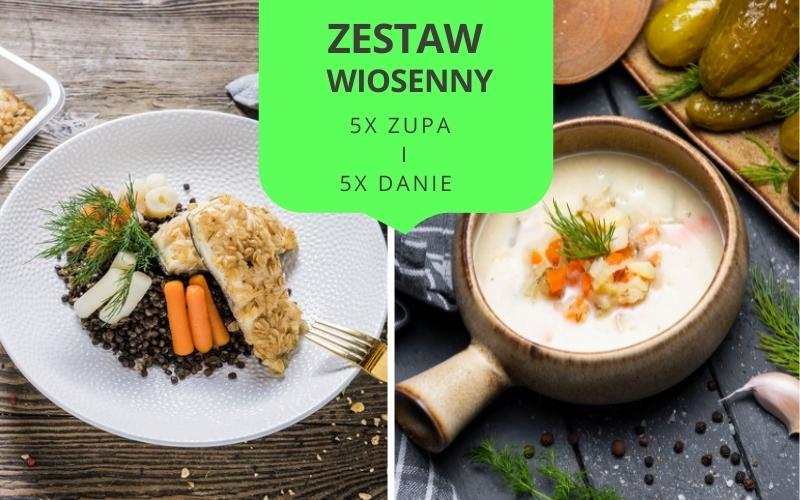 Zestaw obiadowy WIOSENNY (5 zup i 5 dań)
