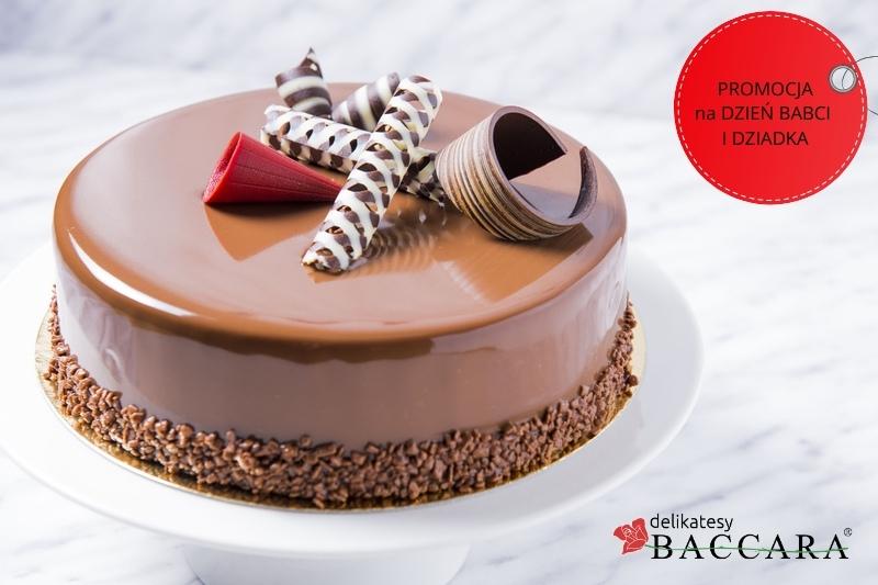Tort czekoladowy z wiśnią PROMOCJA (cały tort około 1 kg)