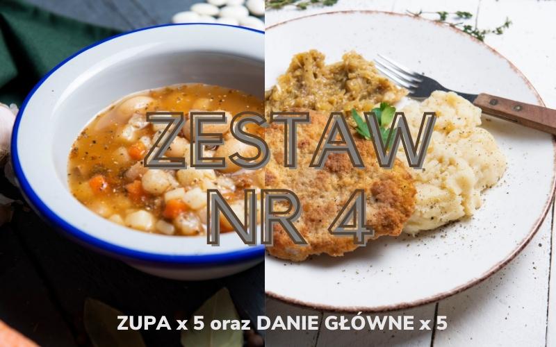 ZESTAW OBIADOWY nr 4 (5x zupa i 5x danie główne)