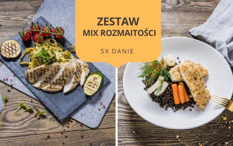 Zestaw obiadowy MIX ROZMAITOŚCI (5 dań)